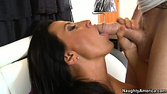 Lezley spreads her sexy legs wide open to welcome that cock deep in her pussy