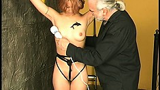 Parker and Maiya in some dungeon BDSM and with him teasing her
