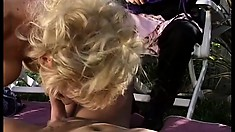 Sex -starved Mrs E Styles gets carnal with hung Dave Cummings