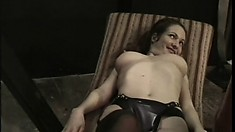 Pinched, poked, prodded and ready to do whatever her master wants