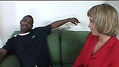 Cum-drinking Sophia loves having a hard black prick in her soft muff