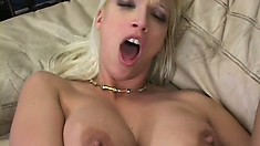 Blonde cougar Nikki has the photographer pounding her fiery ass deep