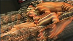 Sensual blonde gives an awesome blowjob and gets fucked deep in the ass