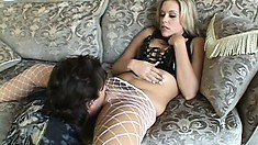 Filthy blonde slut begs this dude to bone her as hard as he can