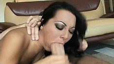 Attractive European jade is having sex with extravagant cleaver