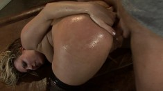 Busty blonde Harmony Rose gets her tight ass pounded like she deserves